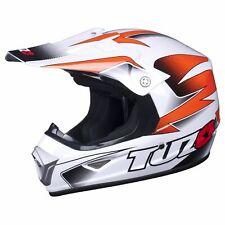 Tuzo MX Motorcycle Motorcross ECE Approved XP-7 Kids Helmet - Orange