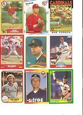 18 CARD BOB FORSCH BASEBALL CARD LOT          93