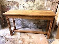 Bespoke H86x W100x D32cm waxed oak console hall telephone lounge kitchen table