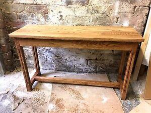 Bespoke H50 x W90 x D35cm waxed oak console hall telephone lounge kitchen table