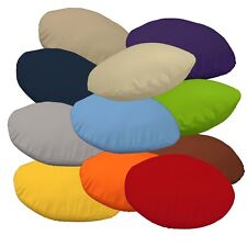 Flat Round Shape Cover*A-Grade Cotton Canvas Floor Seat Chair Cushion Case*La
