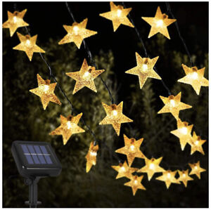 Opard Solar String Lights 12m 39ft 100 LED IP65 Waterproof Warm White 8 Modes