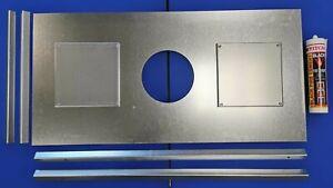 Stove register plate, steel chimney closure board for wood burner