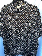 Men's XL Natural Issue Hawaiian Short Sleeve Shirt Black Rayon
