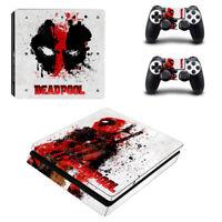 Deadpool Vinyl Sticker PS4 slim Console skin PlayStation 4 controller Decals