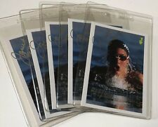 Lot of 5 JANET EVANS Hand Signed Trading Cards US Olympic Gold Medal SWIMMER COA