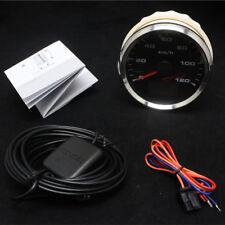 Rund Auto Lkw GPS Tachometer 0-120 Km/h mit Kilometerzähler anschrauben 12V 24V
