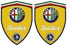 2 stickers adhésifs ALFA ROMEO SPIDER BERTONE (idéal pour aile avant)