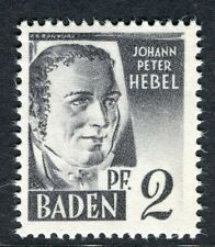 GERMANY ALLIED OCC BADEN;  1947 early pictorial Mint MNH unmounted 2pf.