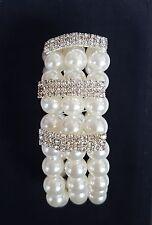 Perlen Armband creme-weiss Armreifen Hochzeit Schmuck Brautschmuck ivory