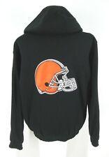 Cleveland Browns Reversible Jacket Sz L Reebok NFL Hooded Zipper Large Mens