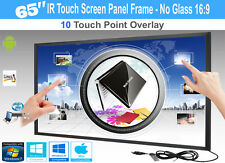"LCD/LED 10 Touch IR Overlay Touch Screen Frame Panel Interactive 65"" - No Glass"