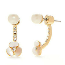 Kate Spade 14k Gold-plated Mother of Pearl & Crystal Disco Pansy Ear Jacket