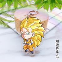 Japan Anime Dragon Ball Z Super Saiyan 3 Acrylic Key Ring Pendant Keychain Gift