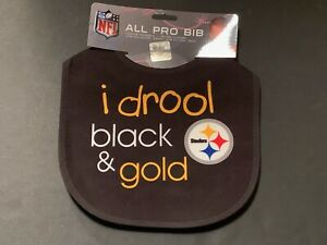 "Pittsburgh Steelers ""I Drool"" Baby Bib [NEW] Druel Newborn Infant Boy Girl"