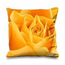 Yellow Rose Large Faux Silk 45cm x 45cm Sofa Cushion - Roses Floral Flowers