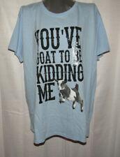 Farm Fed Clothing blue t-shirt, goat graphic, Plus size 3X