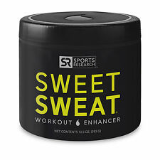 Sports Research SWEET SWEAT 13.5 oz XL Jar Workout Enhancer, Sweat Skin Cream