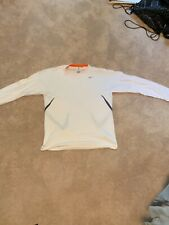 Men's Nike White Lightweight Running Shirt - Size Medium