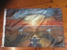 Sunset Harley Davidson printed bar poster wall hanging man cave flag pool room
