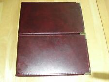 Two Double Binder Check burgundy 3 rings corner brass cushioned commercial # 570