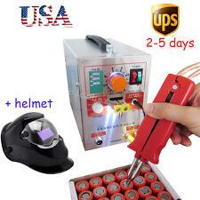 USA portable pulse Spot Welder Welding Soldering Machine 2 in 1 + helmet unit