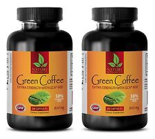 Green Coffee Bean Extract GCA 800mg 50% Chlorogenic Acid (2 Months Supply)