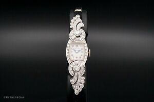 Stunning Vintage Hamilton Platinum and Diamond Ladies Cal. 761 Wrist Watch