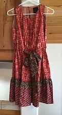 NWT $228 Anthropologie Anna Sui size 2 dress silk cotton blend sleeveless