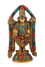 Indian Brass Tirupati Balaji Statue Large Religious Home Décor Idol Inlay 2 Feet