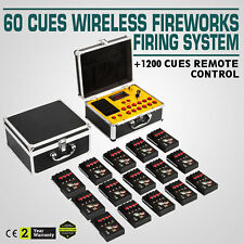 60 Cues Fireworks Firing System W/1200 Channel Party Multifunctional Wireless