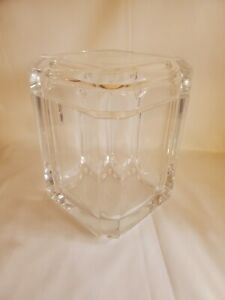 Vintage 1970s Alessandro Fabrizzi Lucite Acrylic Faceted Ice Bucket Swivel MCM