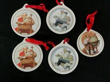 Jcpenney Norman Rockwell ~ Set of 5~ Christmas Ornaments 1995, 2-1996, 2-1997