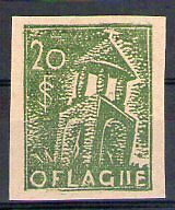 POLOGNE Oflag Camp de Neubrandenburg Fischer timbre n° 1 neuf sans gomme