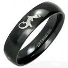 Fabulous black steel gecko ring - Size X (Us 12)