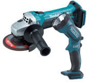 Makita DGA452 18v Cordless Angle Grinder 115mm Lithium-Ion + BML185 Torch