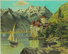 """Leopold Blauensteiner  - Original Painting, """"Landscape"""" Hand Signed by Artist"""
