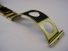 Rare 22mm Gold Tone Rowi Sport Rally Style cuff watch band German Round Holes