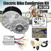 "24V 250W Electric Bike Conversion Kit Motor Controller For 22-28"" Common Bicycle"