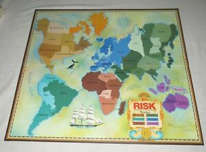 Risk 1975 Board Game Spare Parts Board only