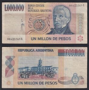 Argentina 1000000 pesos 1981 (83) BB/VF  B-10