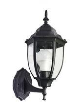 LANTERNA DA GIARDINO ANTICA LAMPADA A PARETE APPLIQUE ESTERNO A MURO RETRÒ NERA
