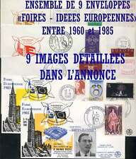 EUROPE - EUROPA - IDEES EUROPEENNES / LOT DE 9 LETTRES DIFFERENTES (ref 6603)