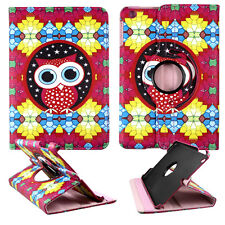 COLORFUL OWL CASE IPAD MINI 1/2/ 3 360 ROTATING STAND TABLET COVER