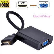 22.5cm Entrada HD HDMI a Salida VGA Cable Adaptador Convertidor Pc Dvd PANTALLA