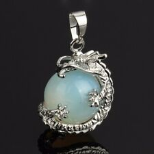 Beautiful Moonstone Dragon Pendant on a Sterling Silver Chain