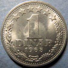 *UNCIRCULATED, Vintage 1965 YUGOSLAVIA  1 DINAR COIN, Beautiful Luster NICE COIN