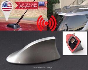 Roof Silver Shark Fin Vortex Stereo Radio Aerial Signal Antenna FM/AM for Dodge