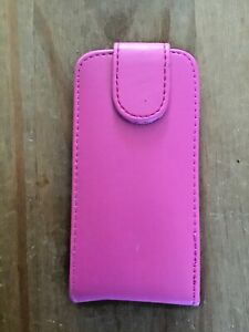 PU LEATHER FLIP PROTECTIVE WALLET CASE COVER - APPLE iPOD TOUCH 5th GEN.- PINK