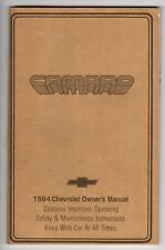 VG - 1984 CHEVROLET CAMERO OWNER'S and DRIVER'S MANUAL - EUC